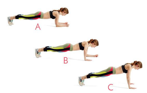 Exercice abdos : plance
